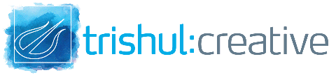 Trishul Creative Logo Blue